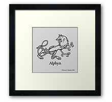 A is for Alphyn Framed Print