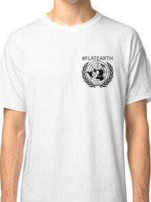Hashtag Flat Earth pocket print tee Classic T-Shirt