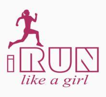 I run like a girl One Piece - Long Sleeve