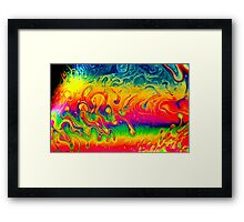 Psychedelic Colors Framed Print