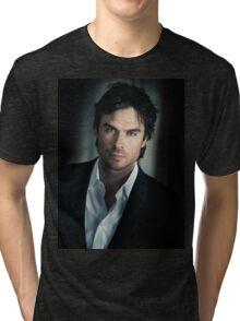 Handsome Damon Salvatore Ian Somerhalder  Tri-blend T-Shirt