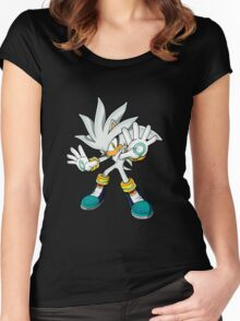 Sonic The Hedgehog Futuristic     Women's Fitted Scoop T-Shirt