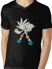 Sonic The Hedgehog Futuristic     Mens V-Neck T-Shirt