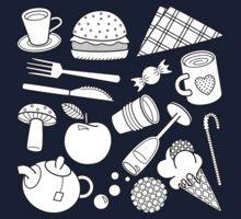 foodie (b&w) One Piece - Short Sleeve