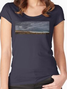 Stormy sky at Maslin Beach, South Australia Women's Fitted Scoop T-Shirt