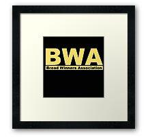 BWA Bread Winners Association Kevin Gates  Framed Print