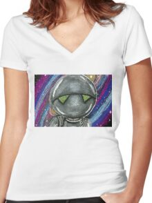 Marvin the Paranoid Android  Women's Fitted V-Neck T-Shirt
