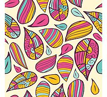 Cute colorful floral pattern.  Photographic Print