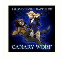 The Battle of Canary Worf Art Print