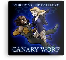 The Battle of Canary Worf Metal Print