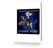 The Battle of Canary Worf Greeting Card