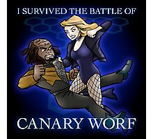 The Battle of Canary Worf Photographic Print