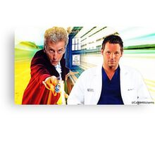 Grey's Anatomy & Doctor Who; Alex Karev and The Doctor Canvas Print