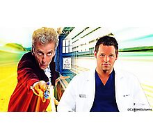Grey's Anatomy & Doctor Who; Alex Karev and The Doctor Photographic Print