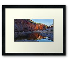 Ormiston Gorge Reflections Framed Print