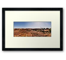 Kings Canyon Panoramic Framed Print