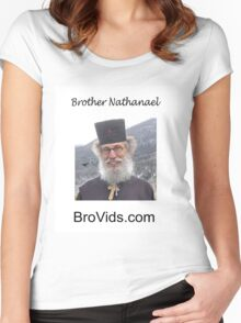 Brother Natanael's BroVids.com Women's Fitted Scoop T-Shirt