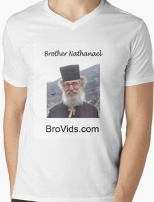 Brother Natanael's BroVids.com Mens V-Neck T-Shirt