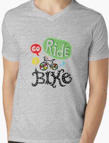 Go ride a Bike Mens V-Neck T-Shirt