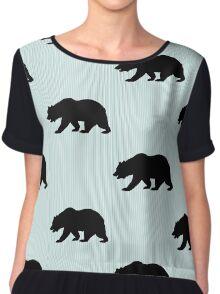 Bear silhouette  Chiffon Top