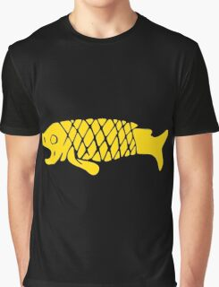 Ancient Mexico Fish Graphic T-Shirt