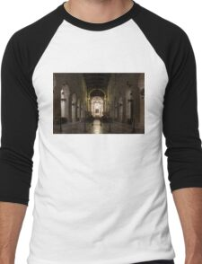 Cathedral of Syracuse - Duomo di Siracusa - an Ancient 2500 Years Old Greek Temple Men's Baseball ¾ T-Shirt