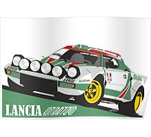 Lancia Stratos HF Alitalia livery Poster