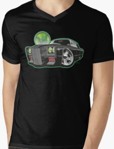 Green Hornet Black Beauty caricature Mens V-Neck T-Shirt