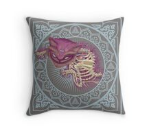 The Cheshire Cat  Throw Pillow
