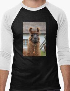 Llama Cell Phone Case - Sticker Men's Baseball ¾ T-Shirt
