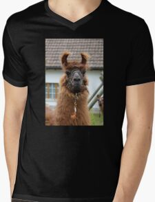 Llama Cell Phone Case - Sticker Mens V-Neck T-Shirt