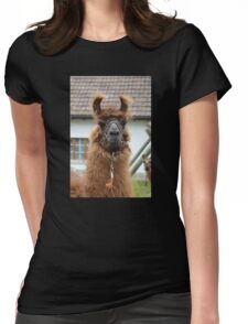 Llama Cell Phone Case - Sticker Womens Fitted T-Shirt
