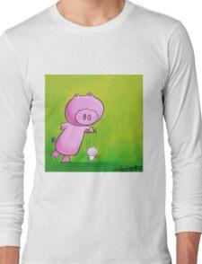 Splatter Puppet Pig Long Sleeve T-Shirt