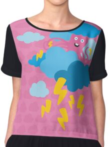 Who Makes the Thunder? - in PINK Chiffon Top