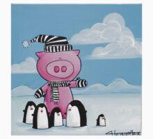 Splatter Pig and Penguins Kids Tee