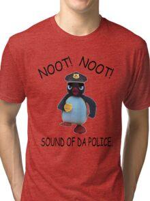 Pingu - NOOT! NOOT! SOUND OF DA POLICE Tri-blend T-Shirt