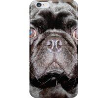 Blue Eyed Pug iPhone Case/Skin