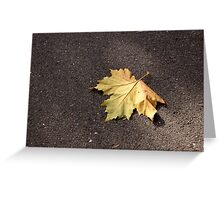 The Golden Fall Greeting Card