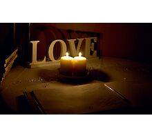 Leave your messages of Love... Photographic Print