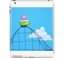 Splatter Roller Coaster Pig iPad Case/Skin
