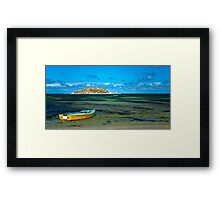 Yellow Boat at Victor Harbor Framed Print