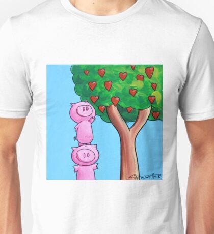 Splatter Pigs Picking Love Unisex T-Shirt