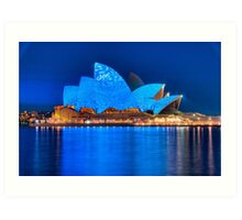 Rhapsody in Blue - Sydney Opera House Art Print