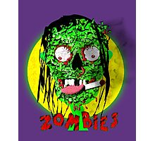 Walking Dead Gruesome Green Zombie Graphic Photographic Print