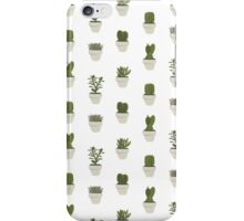 Cacti & Succulents (White) iPhone Case/Skin