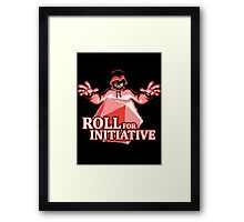 Roll for Initiative Framed Print