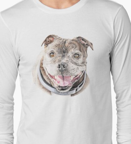 Freddie- Staffordshire Bull Terrier Long Sleeve T-Shirt