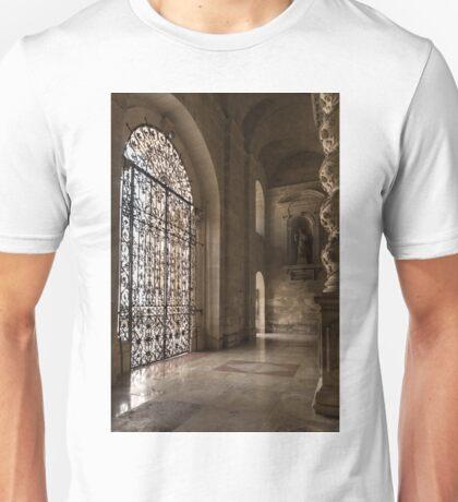 Intricate Ironwork - Lacy Wrought Iron Gates Unisex T-Shirt