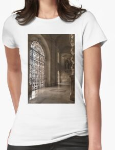 Intricate Ironwork - Lacy Wrought Iron Gates Womens Fitted T-Shirt