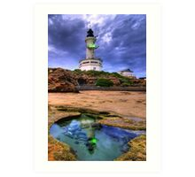 Lighthouse Rockpool Art Print